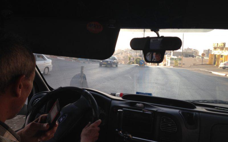 Cab driver, from Betlehem to Ramallah. August 20, 2014. Photo: Masih Sadat