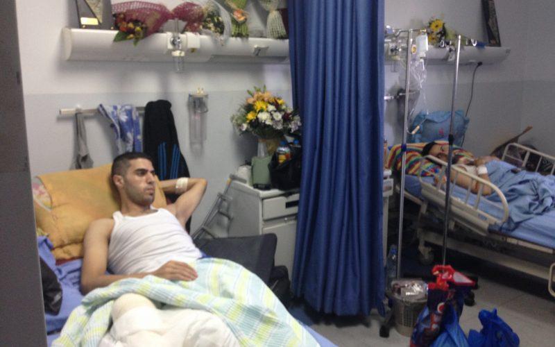 Injured Gazans from the war. Palestinian Medical Complex in Ramallah. August 29, 2014. Photo: Masih Sadat